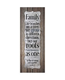 """Family-like Branches on a Tree New Horizons Wood Plaque, 6"""" x 15.75"""""""