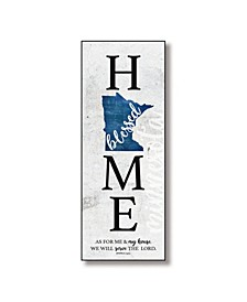 "Minnesota Home-Blessed Wood Wall Plaque with Hanger, 5.5"" x 12"""