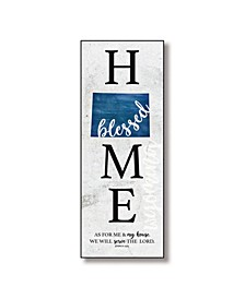 "Wyoming Home-Blessed Wood Wall Plaque with Hanger, 5.5"" x 12"""