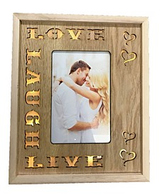 Led Lighted Photo Frame with Love, Laugh, Live Words