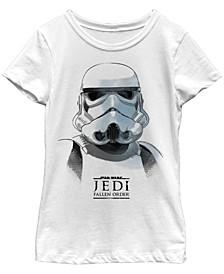 Big Girls Jedi Fallen Order Stormtrooper Mask Short Sleeve T-Shirt
