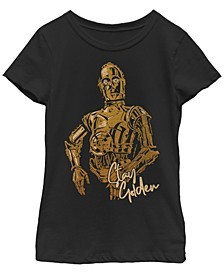 Big Girls C-3PO Stay Golden Short Sleeve T-Shirt