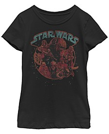 Big Girls Kylo Ren Retro Dark Side Short Sleeve T-Shirt