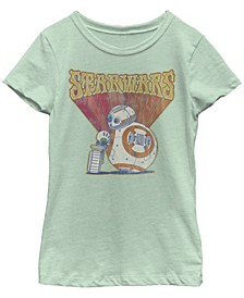 Big Girls Retro Psychedelic BB-8 and D-O Short Sleeve T-Shirt