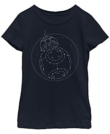 Big Girls BB-8 Star Constellation Short Sleeve T-Shirt