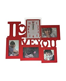 I Love You Clock with 4 Photo Frames