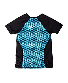 Short Sleeve Scale-Print Rash Guard
