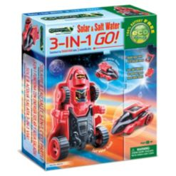 Tedco Toys Greenex Solar Salt Water 3-in-1 Go