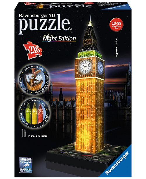 Ravensburger 3D Puzzle - Big Ben - Night Edition - 216 Piece