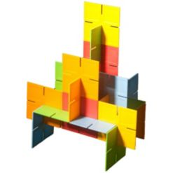 Fat Brain Toy Co. Dado Squares - Interlocking Building Squares, 35 pieces
