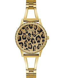 Women's Gold-Tone Stainless Steel Bracelet Watch 34mm