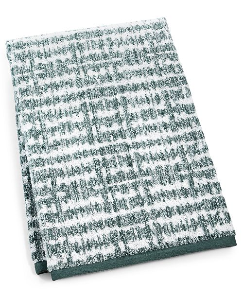 "Hotel Collection Ultimate MicroCotton Mosaic 30"" x 56"" Bath Towel, Created For Macy's"