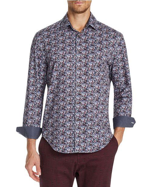 Tallia Men's Slim-Fit Performance Stretch Floral Long Sleeve Shirt