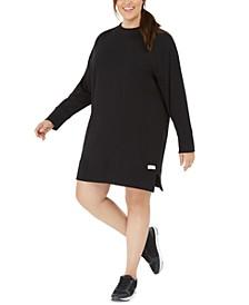 Plus Size Cotton Crewneck Dress