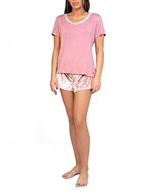 Short Sleeve and Short Pajama Set, Online Only