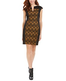 Petite Embroidered Sheath Dress