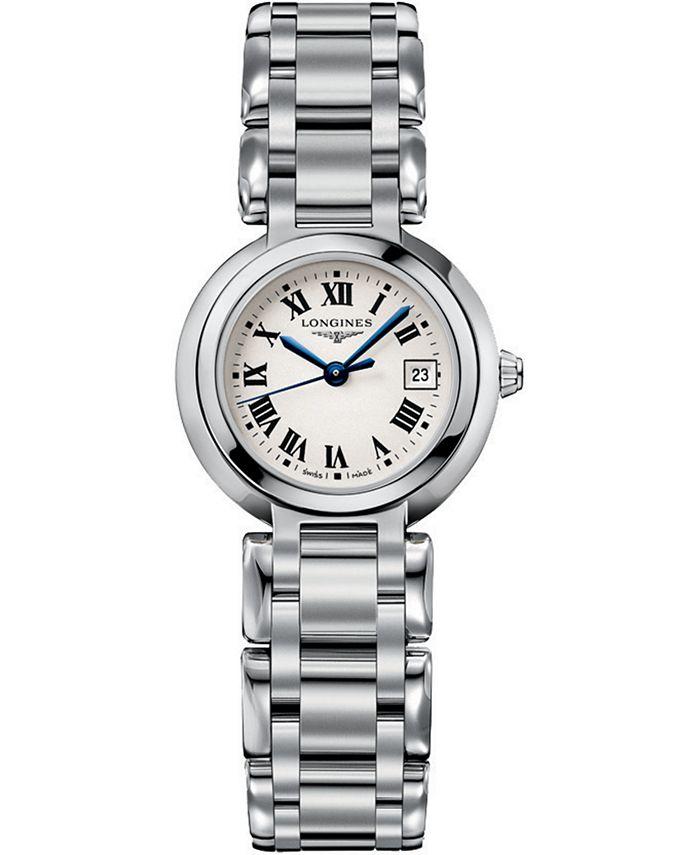 Longines - Women's Swiss PrimaLuna Stainless Steel Bracelet Watch 27mm
