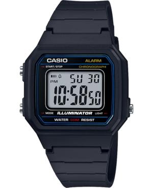 Unisex Digital Black Resin Strap Watch 41.2mm