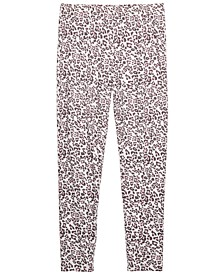 Big Girls Snow Leopard Leggings, Created for Macy's