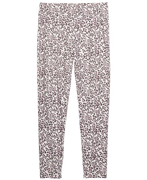 Epic Threads Big Girls Snow Leopard Leggings, Created For Macy's