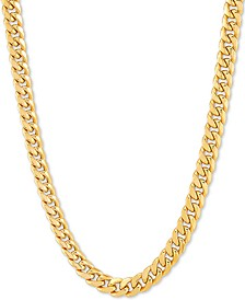 "Miami Curb 18"" Chain Necklace in 10k Gold"