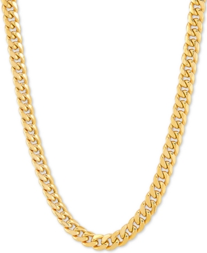 """Miami Cuban Link 18"""" Chain Necklace in 10k Gold"""