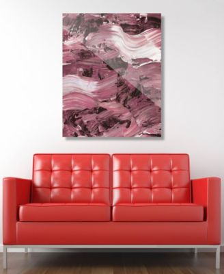 """Mud Flow in Mauve Abstract 24"""" x 36"""" Acrylic Wall Art Print"""