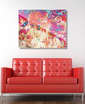 "Splatter Shop Vermillion Abstract 16"" x 20"" Acrylic Wall Art Print"