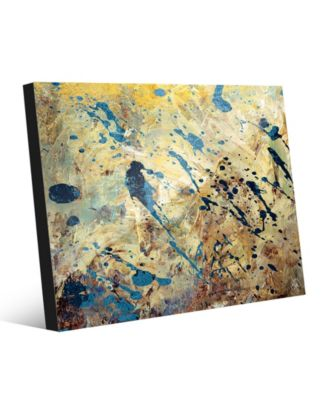 Blue Rust on Light Yellow Paint Abstract 20