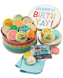 Birthday Gift Tin with Frosted Cookies
