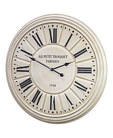 American Art Decor Au Petit Troquet Parisien 1928 Oversized Wall Clock