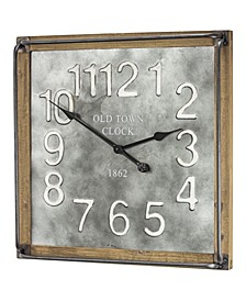 American Art Decor Old Town Clock 1862 Oversized Hanging Wall Clock