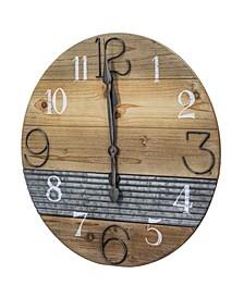 American Art Decor Oversized Wood Farmhouse Wall Clock