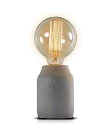 American Art Decor Small Modern Stylish Concrete Accent Table Lamp