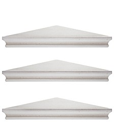 American Art Decor Wood Floating Corner Shelves, Set of 3