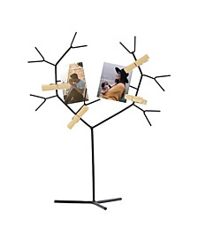 American Art Decor Tree Photo Holder with Clothespin Clips Table Top Decor