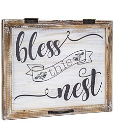 American Art Decor Bless This Nest Rustic Wood Sign