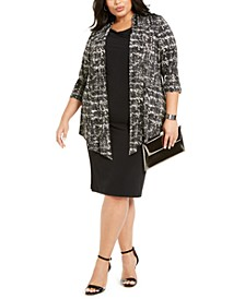 Plus Size Layered-Look Jacket Dress