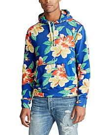 Men's Big & Tall Floral French Terry Hoodie