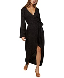 Juniors' Liya Wrap-Front Maxi Dress