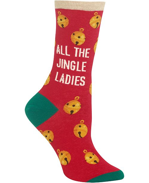 Hot Sox Women's All the Jingle Ladies Crew Socks