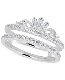 Diamond Double Band Tiara Ring (1/2 ct. t.w.) in 14k White Gold