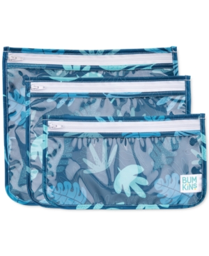 Bumkins 3-pack Clear-sided Travel Bag Set In Blue