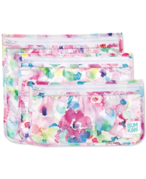 Bumkins 3-pack Clear-sided Travel Bag Set In Multi