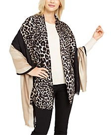 Leopard Colorblocked Printed Pashmina