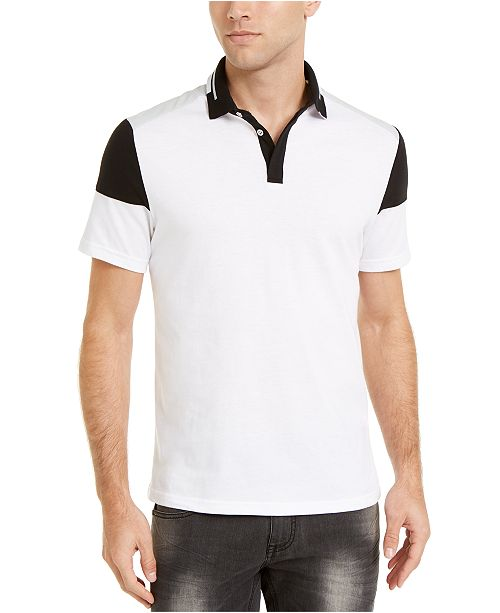 INC International Concepts INC Men's Colorblocked Polo Shirt, Created For Macy's