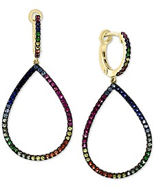 EFFY® Multi-Sapphire Drop Earrings (7/8 ct. t.w.) in 14k Rose Gold