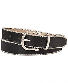 Smooth Belt With Ball-Chain Edge