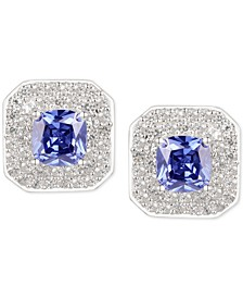 Tanzanite (1-1/10 ct. t.w.) & Diamond (1/4 ct. t.w.) Stud Earrings in 14k White Gold