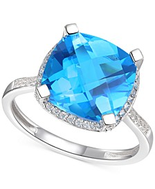 Blue Topaz (6-1/3 ct. t.w.) & Diamond (1/4 ct. t.w.) Statement Ring in 14k Yellow Gold (Also in Amethyst & Citrine)